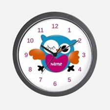 Personalized Owl Print Wall Clock