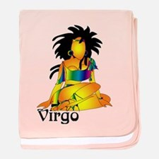 Whimsical Virgo baby blanket