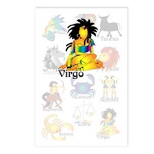 Whimsical Virgo Postcards (Package of 8)