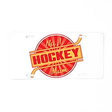 No. 1 Hockey Mum Aluminum License Plate