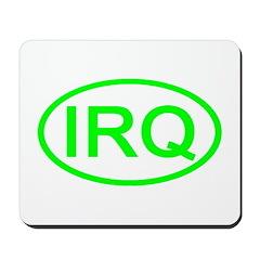 Iraq - IRQ Oval Mousepad