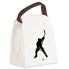Hockey Player Canvas Lunch Bag