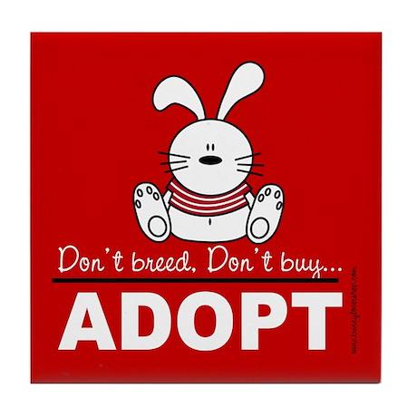 Adopt a bunny Tile Coaster