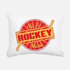 No. 1 Hockey Mum Rectangular Canvas Pillow