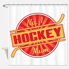 No. 1 Hockey Mum Shower Curtain