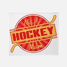 No. 1 Hockey Mum Throw Blanket
