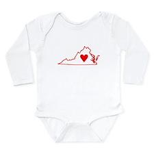 Heart Virginia Long Sleeve Infant Bodysuit