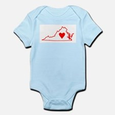 Heart Virginia Infant Bodysuit