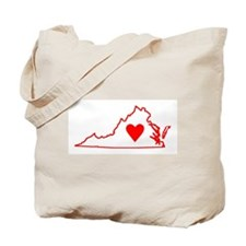 Heart Virginia Tote Bag