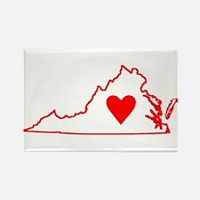 Heart Virginia Rectangle Magnet