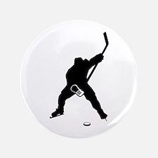 "Hockey Player 3.5"" Button"