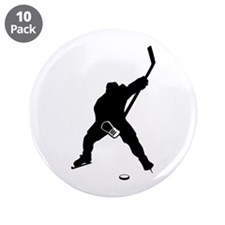 """Hockey Player 3.5"""" Button (10 pack)"""