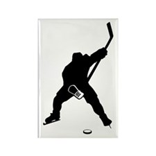 Hockey Player Rectangle Magnet (10 pack)