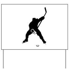 Hockey Player Yard Sign