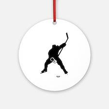 Hockey Player Ornament (Round)