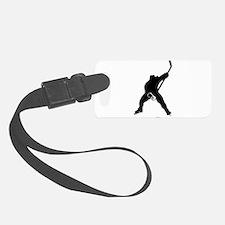 Hockey Player Luggage Tag