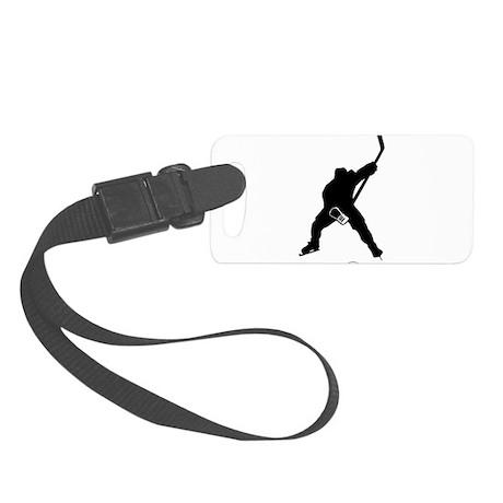 Hockey Player Small Luggage Tag