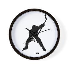 Hockey Player Wall Clock