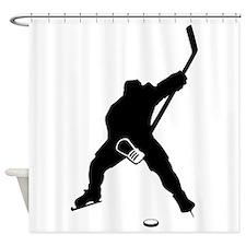Hockey Player Shower Curtain