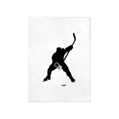 Hockey Player 5'x7'Area Rug