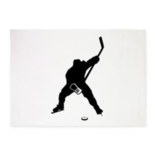 Hockey Player 5'x7'Area Rug