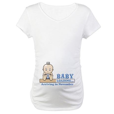 Arriving in November Maternity T-Shirt