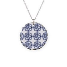 blue delft horizi Necklace