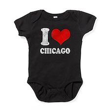 ILOVECHICAGO2.png Baby Bodysuit