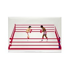 boxing videogame Rectangle Magnet