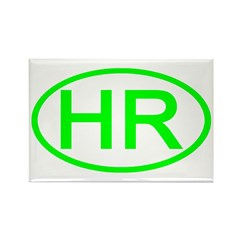 Croatia - HR Oval Rectangle Magnet