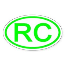 China - RC Oval Oval Decal