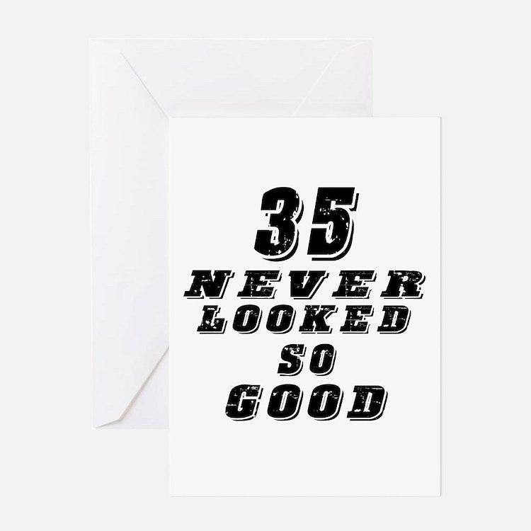 35 Birthday Designs Greeting Card