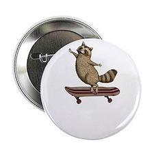 """raccoon skateboard dude 2.25"""" Button"""
