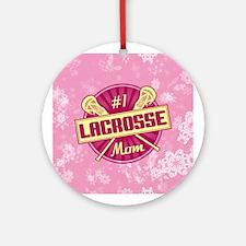 #1 Lacrosse Mom Ornament (Round)