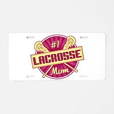 #1 Lacrosse Mom Aluminum License Plate