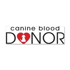Canine Blood Donor Car Magnet 10 x 3