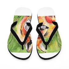 Watercolor Fox Flip Flops