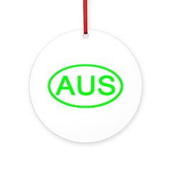 Australia - AUS Oval Ornament (Round)