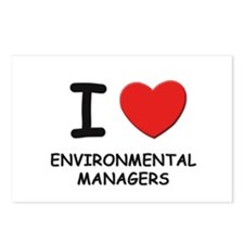 I love environmental managers Postcards (Package o