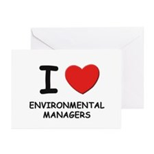 I love environmental managers Greeting Cards (Pack