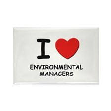 I love environmental managers Rectangle Magnet