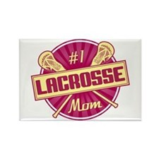 #1 Lacrosse Mom Rectangle Magnet