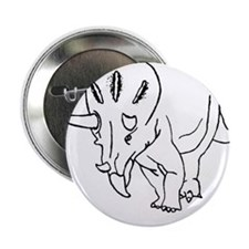 "Don't Tri Me - Funny Triceratops 2.25"" Button"