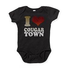 IHEARTCOUGARTOWNTV.png Baby Bodysuit