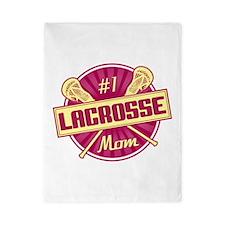 #1 Lacrosse Mom Twin Duvet