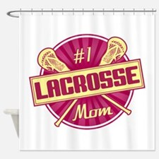 #1 Lacrosse Mom Shower Curtain