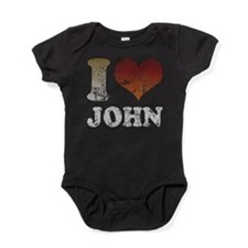 ILOVEJOHNDTY.png Baby Bodysuit