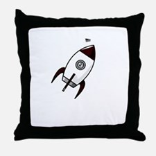 little rocket monster Throw Pillow