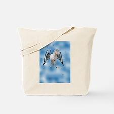 white magical flying Pegasus Tote Bag