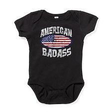americanbadasstrans.png Baby Bodysuit